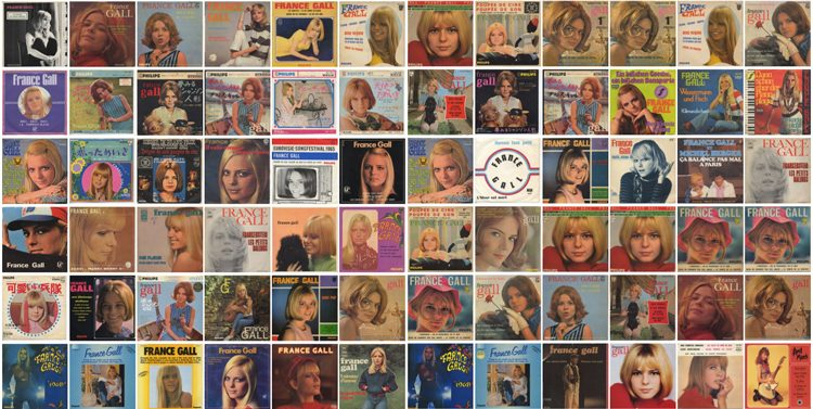 France Gall at dessinee shop, Shibuya