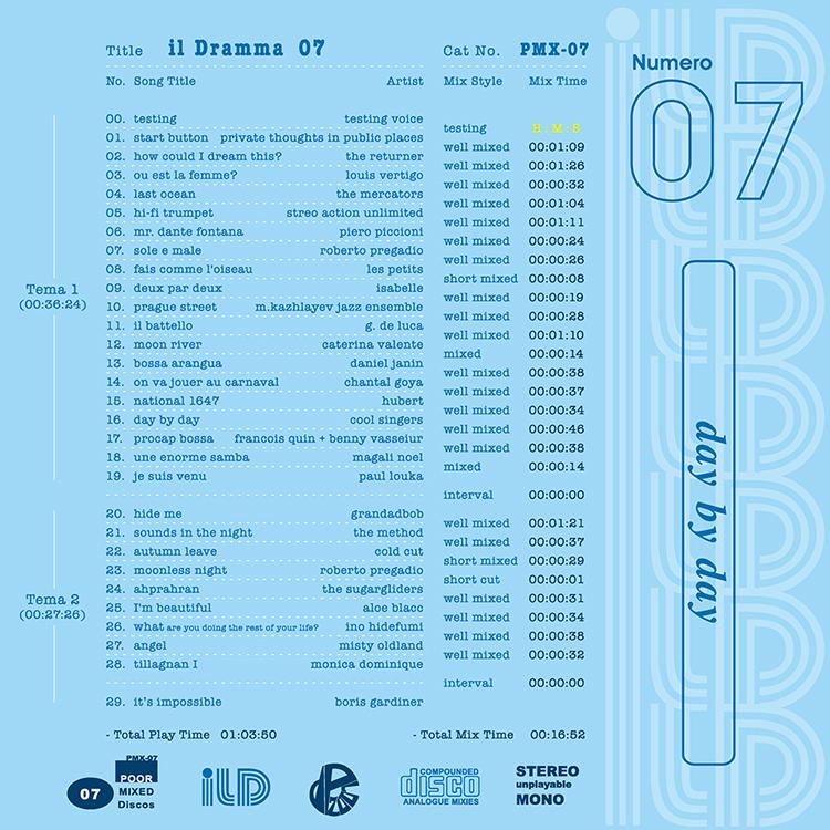 il Dramma 07 [Day by Day] - Mixed by DJ ilD