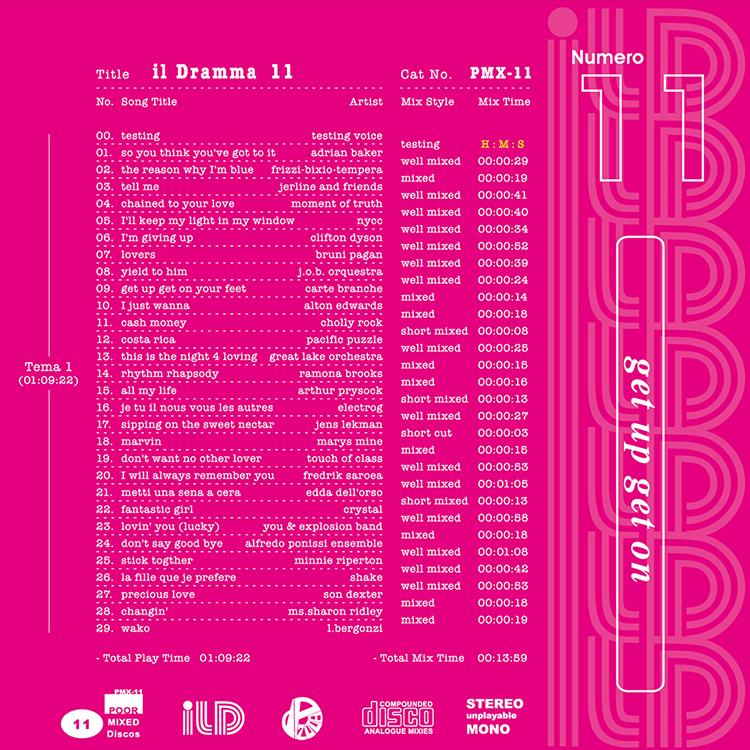 il Dramma 11 [Get Up Get On] - Mixed by DJ ilD